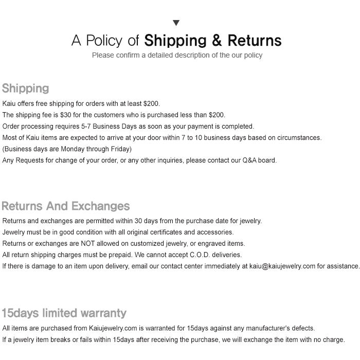 shipping return policy